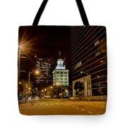 Downtown Tampa Florida Skyline At Night Tote Bag