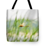 Dragonfly Flying Tote Bag