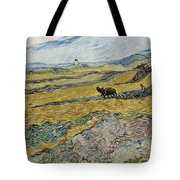 Enclosed Field With Ploughman Tote Bag