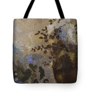 Flowers In A Black Vase Tote Bag