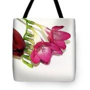 Freesia And Tulip Tote Bag
