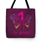 Girl With Angel Wings Tote Bag