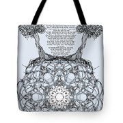 Hebrew Prayer- Toda- Thanks To The Lord Tote Bag