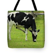 Holstein Cow On A Farm Tote Bag
