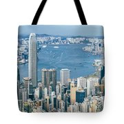 Hong Kong Harbour View From The Peak Tote Bag