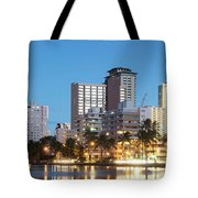 Honolulu Skyline Panorama Tote Bag