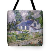 Houses At Auvers Tote Bag