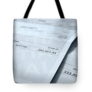 Income Inequality Paychecks Tote Bag