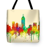 Indiana Indianapolis Skyline Tote Bag