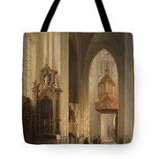 Interior View Of Namur Cathedral Tote Bag