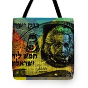 5 Israeli Pounds Banknote - Einstein Tote Bag