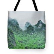 Karst Mountains Rural Scenery Tote Bag