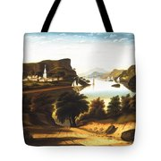Lake George And The Village Of Caldwell Tote Bag
