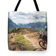 Landscape Around Kasi In North Laos Tote Bag