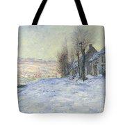 Lavacourt Under Snow Tote Bag