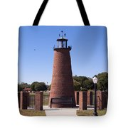 Lighthouse On Lake Toho At Kissimmee In Florida Tote Bag