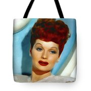 Lucille Ball, Vintage Actress Tote Bag