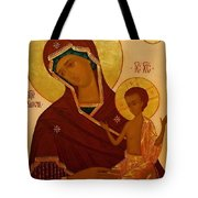 Madonna And Child Religious Art Tote Bag
