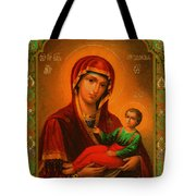 Madonna Enthroned Christian Art Tote Bag