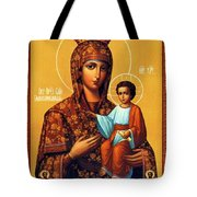 Madonna Enthroned Religious Art Tote Bag