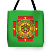Metatron's Cube Merkaba Mandala Tote Bag