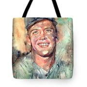 Mickey Mantle Portrait Tote Bag
