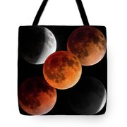 5 Moons Tote Bag