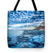 Newport Bridge Connecting Newport And Jamestown At Sunrise Tote Bag