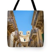 Noto, Sicily, Italy - Detail Of Baroque Balcony, 1750 Tote Bag