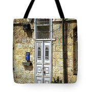 old suburb in Jerusalem. Tote Bag
