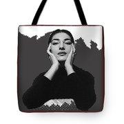 Opera Singer Maria Callas No Date-2010 Tote Bag