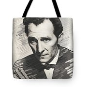 Peter Cushing, Vintage Actor Tote Bag