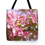 Pink Cherry Flowers Tote Bag