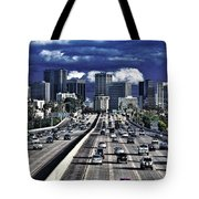 5 Pm Downtown Next Exit Tote Bag