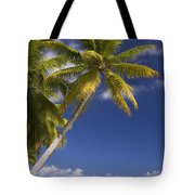 Polynesian Beach With Palms Tote Bag