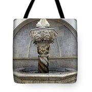 Public Fountain In Dubrovnik Croatia Tote Bag