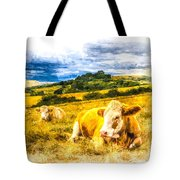 Resting Cows Art Tote Bag