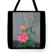 5 Roses In Rain Tote Bag