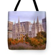 Salt Lake City Lds Temple Tote Bag