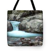 Slow Shutter Photo Of Figarella River At Bonifatu In Corsica Tote Bag
