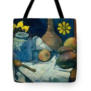 Still Life With Teapot And Fruit Tote Bag
