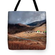 Top View Of Kupup Valley, Sikkim, Himalayan Mountain Range Tote Bag