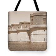 5 Towers Of Lake Murray Sc Sepia Tote Bag