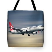 Turkish Airlines Boeing 737-9f2 Tote Bag