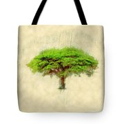 Umbrella Thorn Acacia Acacia Tortilis, Negev Israel Tote Bag