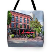 Outdoor Cafe In Gastown, Vancouver, British Columbia, Canada Tote Bag