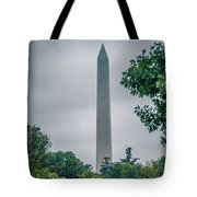 Washington Mall Monumet On A Cloudy Day Tote Bag