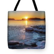 Winter By The Sea Tote Bag