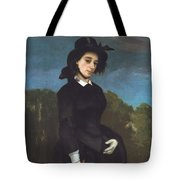 Woman In A Riding Habit Tote Bag
