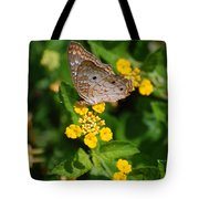 5 Yellow Flowers And A Buttefly Tote Bag